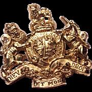 Vintage Gold Kirk Steiff Crest Brooch