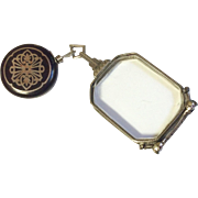 Victorian Sterling Silver Lorgnette Opera Glasses & Ketcham & McDougall Retractable Brooch
