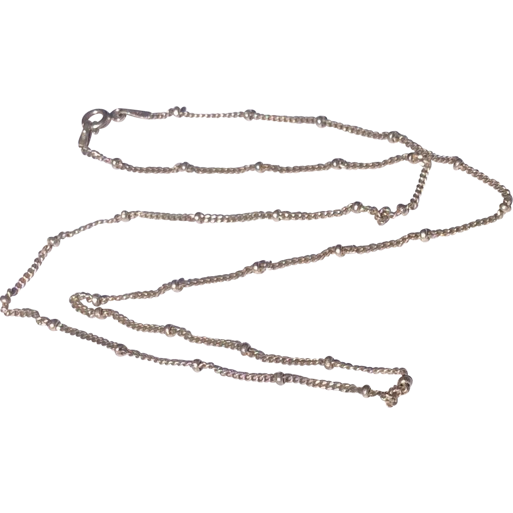 "Vintage Italian Sterling Silver 18"" Chain"