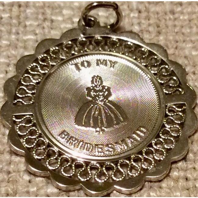 Vintage Sterling SIlver Bridesmaid Charm