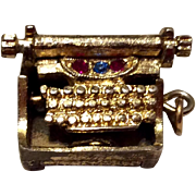 Vintage Gold Filled Typewriter  Charm