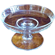 Vintage Clear Glass Footed Compote
