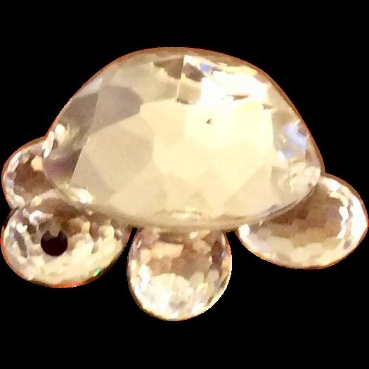 Retired Swarovski Crystal  Mini Turtle