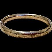 Vintage Carl Art Gold Filled Hinged Bangle Bracelet