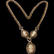 Vintage Gold Filled Cameo Necklace