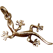 Vintage Sterling Silver Gecko Charm