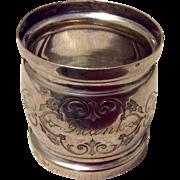 Vintage Silverplate Napkin Ring