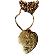 Vintage 12K Gold Filled Double Photo Heart Locket