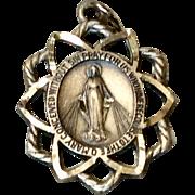 Vintage Sterling Silver Miraculous Medal