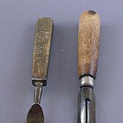 Wood Handled Vintage Fork and Vegetable Peeler