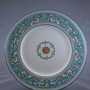 Wedgwood China Turquoise 'Florentine' Dinner plates, Set of 10