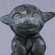 Vintage Metal Cast Iron Bonzo Dog Figure