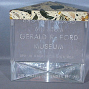 1981 Gerald R. Ford Museum Paper Weight, Signed Robert Eardley