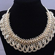 Vintage Ornate Sterling Silver Necklace