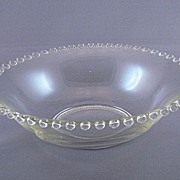 Vintage Imperial Glass Candlewick Serving Bowl with Handles