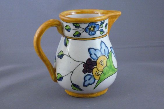 Vintage Pottery Pitcher Made In Spain From