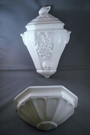 california pottery vintage lavabo or wall pocket set from. Black Bedroom Furniture Sets. Home Design Ideas