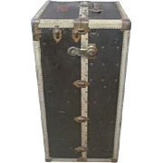 Rare Antique Hermes Wardrobe Steamer Trunk 1902-1919