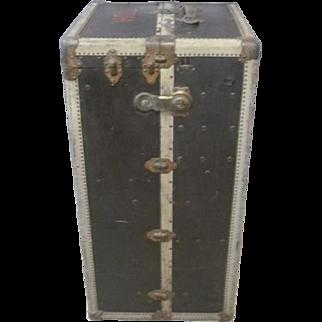 Rare Antique Hermes Wardrobe Steamer Trunk 1902-1919