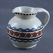 Vintage German Handarbeit Folk Pottery Pitcher