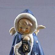 Vintage Goebel Angel In Blue Cape Figurine