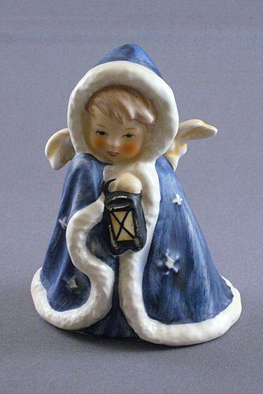 Vintage Goebel Angel In Blue Cape Figurine From