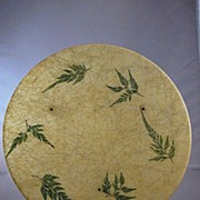 Vintage Fiberglass Tray With Green Ferns