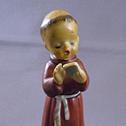 Vintage Ceramic Monk Figurine Made In Japan