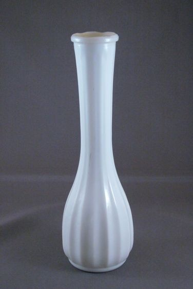 Vintage White Milk Glass Bud Vase From