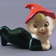 Vintage Ceramic Clip On Elf
