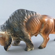 Buffalo Figurine Made In Japan