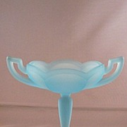 Westmoreland Glass Turquoise Stemmed Compote