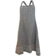 Vintage Black and White Checked Full Apron