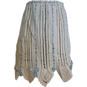 Vintage Crocheted Half Apron