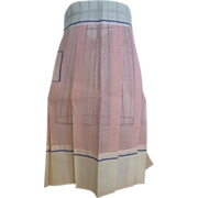 Vintage Pink Voile and Swiss Dot Apron