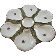 Vintage Oyster Plate with 6 holes and a center spot