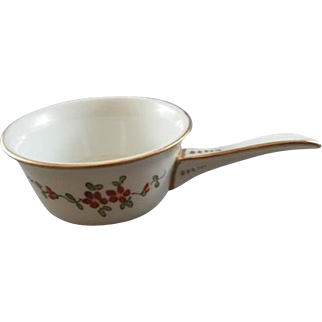 Vintage Small French Bowl or Ladle with Handle