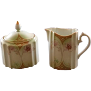 RS Suhl Creamer and Sugar Bowl with Lid
