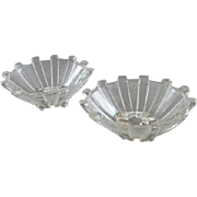 Vintage Pair of Clear Glass Salt Cellars