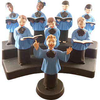 Pottery Choir Music Box by Jamar, Mallory Ceramic Studio