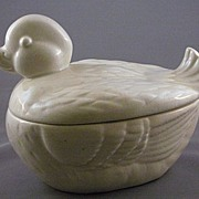 Brad Keeler Pottery White Duck #324