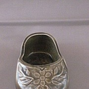 Vintage Ceramic Miniature Grey Dutch Clog