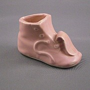 Miniature Ceramic Light Pink Baby Shoe