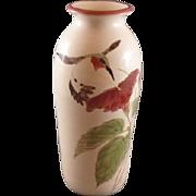 Pottery Hummingbird Vase