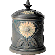 Lidded Jar Austrian Pottery Teplitz Crown Oak Ware Bernhard Bloch