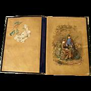 19th Century Austrian Blotter Folio Hand Painted