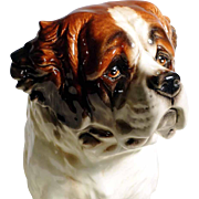 Huge Saint Bernard Dog  Porcelain Figurine Manufactory Goebel Germany
