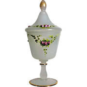 Delightful  Antique French  Opaline Bonbonniere 19th Century