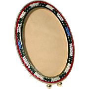 Lovely Oval Micro Mosaic Frame Italy about 1950