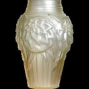 Opalescent Vase Freres Luneville 1920/30 Art Deco Pure!